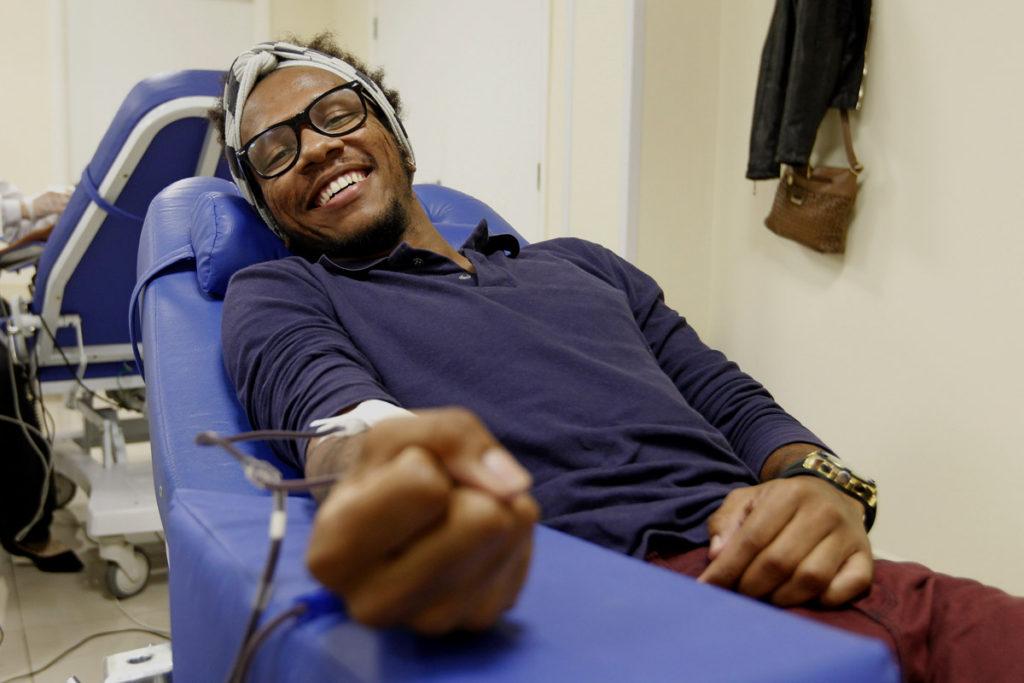 Pais de Hugo também são doadores de sangue. Foto: Antônio More